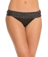 Swim Systems Mod Dot Onyx Banded Bikini Bottom