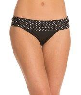 Swim Systems Mod Dot Onyx Banded Bikini Bottom