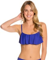Swim Systems Atlantic Blue Underwire Flounce Bikini Top