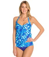 Swim Systems Atlantic Plaid Halter Tankini (D/DD)