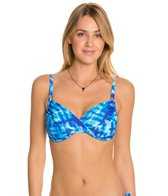 Swim Systems Atlantic Plaid Shirred Underwire Bikini Top (D/DD)