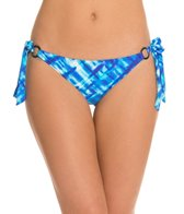 Swim Systems Atlantic Plaid Ring Tie Side Bikini Bottom