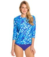 Swim Systems Atlantic Plaid 3/4 Raglan Swim Top