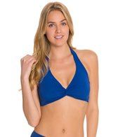 Sunsets Solid Underwire Twist Halter Bikini Top (E/F/G)