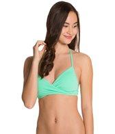 Eidon Solid Alicia Wrap Bikini Top