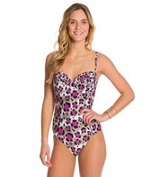 Betsey Johnson Animal Attraction Bump Me Up Underwire One Piece Swimsuit