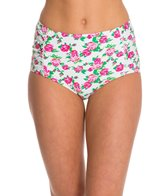 Betsey Johnson Garden Rose Hi-Waist Bikini Bottom
