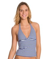 BCBGeneration All Aboard Clear Day Halter Tankini Top