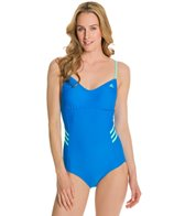Adidas 3 Stripe Adjustable One Piece Swimsuit