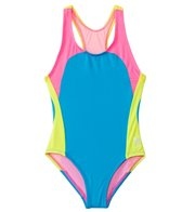 TYR Girls' Solids Splice One Piece Swimsuit (4yrs-16yrs)