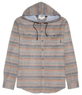 Billabong Men's Flatlands Hooded Long Sleeve Shirt