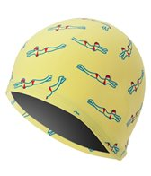 Sporti Retro Swimmers Rubber Swim Cap