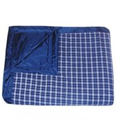 Tuffo Navy Plaid Beach Blanket
