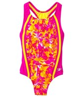 Speedo Girls' Tie Dye Blaze Sport Splice One Piece (4yrs-6yrs)