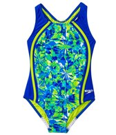 Speedo Girls' Tie Dye Blaze Sport Splice One Piece (7yrs-16yrs)
