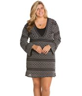 J.Valdi Plus Size Diamond Lace Vee Yoke Cover Up Tunic
