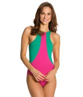 Kingdom & State Colorblock Racer Front One Piece Swimsuit