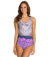 Kingdom & State Digital Coliseum Floral One Piece Swimsuit Scoop