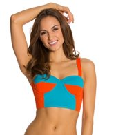 Kingdom & State Bombshell Colorblock Retro Bikini Top