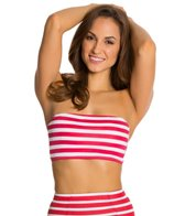 Kingdom & State Retro Stripe Halter Bikini Top
