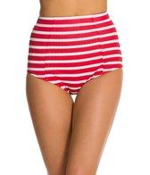 Kingdom & State Bombshell Striped High Waisted Bikini Bottom
