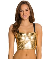 Kingdom & State Gold Panel Bombshell Bikini Top