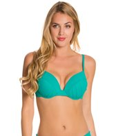 La Blanca Core Solid Push Up Underwire Bra Bikini Top (D-Cup)