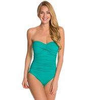 La Blanca Core Solid Bandeau One Piece Swimsuit