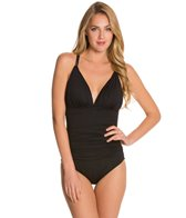 La Blanca Core Solid Cross Back Mio One Piece