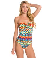 La Blanca Serengeti One Piece Swimsuit Bandeau