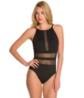 La Blanca Pretty Revealing Hi-Neck OTS Mio One Piece Swimsuit