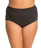 La Blanca Swimwear Plus Size Core Solid Hi-Rise Bikini Bottom