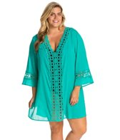La Blanca  Plus Size Solid Intuition Cover-Up Tunic
