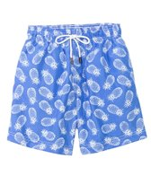 98 Coast Av. Blue Pineapple Swim Trunks