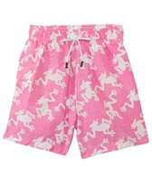 98 Coast Av. Pink Frog Swim Trunks