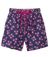 98 Coast Av. Crazy Pink Star Swim Trunks