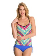 Anne Cole Ethnic Stripe Racerback Tankini Top