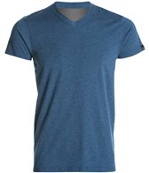 Prana V Neck Short Sleeve Workout Shirt