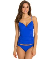 Skye So Soft Solid Crystal Underwire Tankini Top