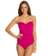 Skye So Soft Solids Bandini Tankini Top (D Cup)