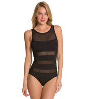 Skye So Soft Solids Sydney High Neck Mesh One Piece