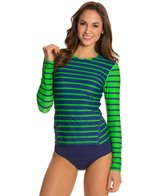 Cabana Life Cape Mod Striped Double Zipper Rashguard