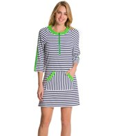 Cabana Life Cape Mode Striped Terry Cover Up