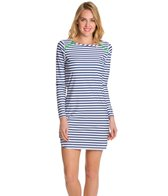 Cabana Life Cape Cod Striped L/S Zipper Swim Dress