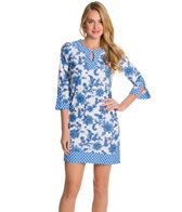 Cabana Life Porcelain Paisley Long Tunic Cover Up
