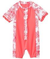 Cabana Life Girls' Coral Infant Rashguard Onesie (3-24mos)
