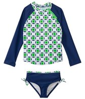 Cabana Life Girls' Cape Mod L/S Printed Rashguard Set (5yrs-6X)