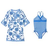 Cabana Life Girls' One Piece Swimsuit and Swim Dress Set (2T-6yrs)