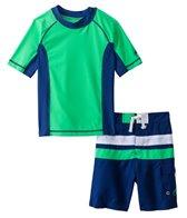 Cabana Life Boys' Swim Shorts and S/S Rashguard Set (8-14yrs)