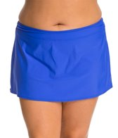Athena Plus Size Cabana Solids Banded Skirted Bottom